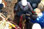Los técnicos de Electricaribe en plenos trabajos en el Centro Histórico de Cartagena.