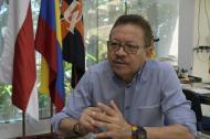 Carlos Prasca, rector de la Universidad del Atlántico, durante la entrevista.