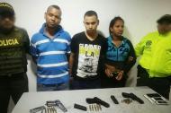 Los capturados: Kevin Junior Reberol, de 24 años; Wilder Jair Ferreira, de 21 años y Mileidys López Márquez, de 24.
