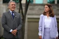 El presidente electo Iván Duque en compañía de Marta Lucía Ramírez.
