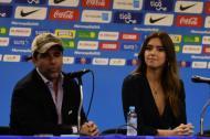 El alcalde Alejandro Char y la ex Miss Universo Paulina Vega.
