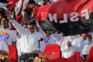 Daniel Ortega en el acto público de este jueves.