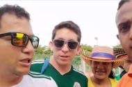 Aficionados mexicanos a la entrada del Metropolitano.