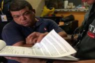 Rubén Castillo, funcionario del CTI  en audiencia.