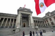Fachada del Palacio de Justicia en Lima.