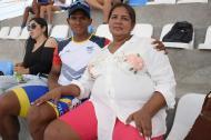 Leidy Vallecilla llegó ayer a Barranquilla para ver las competencias de su retoño Edwin Estrada.