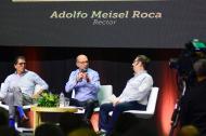 Antonio Celia, Mauricio Rodríguez y Adolfo Meisel.