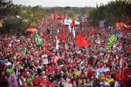La marcha de este miércoles para pedir la libertad del expresidente Lula.