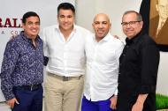 Juan Manuel Buelvas, Carlos Calero, Carlos Herrera y Juan Pablo Alviz en su visita a EL HERALDO.