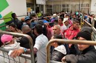 Venezolanos en el paso fronterizo de Rumichaca.