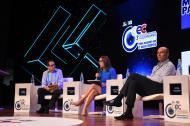 La ministra María Fernanda Suárez Londoño en diálogo con el director de EL HERALDO, Marco Schwartz. También aparece Bernardo Vargas, presidente de ISA.