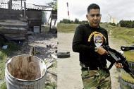 En este tanque encontraron los dos costales con los restos mortales de José Krautz Visbal, alias Valenciano, asesinado en la Bendición de Dios.