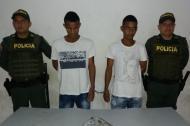 Eduardo Luis Manjarrés Castro y Brayan Jesus Cantillo Tabares, capturados.