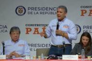 El presidente Iván Duque durante su octavo taller Construyendo País en Nueva York.