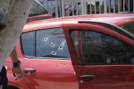 Más de 15 impactos de bala recibió el vehículo en el que se movilizaban Chávez Padua y Mendoza Mendoza.