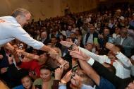 El presidente Iván Duque saluda a la colonia colombiana en Nueva York.