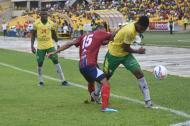 Acción del juego entre samarios y cartageneros que terminó igualado a un gol por bando.