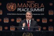 Iván Duque durante su discurso en la Asamblea de la ONU.