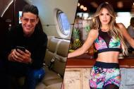 James Rodríguez y Shannon de Lima.