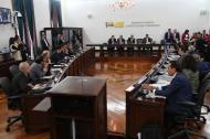 Comisión Primera del Senado de la República durante una sesión de este año.