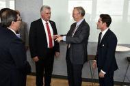 El presidente de Cuba Miguel Díaz-Canel, reunido con empresarios de internet.