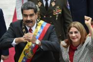 Nicolás Maduro y su esposa Celia Flores.
