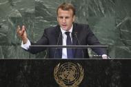 Macron durante su discurso en la Asamblea General de la ONU.