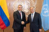 Antonio Guterres, secretario general de la ONU, se reunió en Nueva York con el presidente Iván Duque.