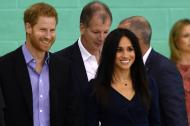El príncipe Enrique junto a su esposa Meghan Markle.
