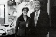 Lewinsky y Clinton cuando ella era pasante en la Casa Blanca.