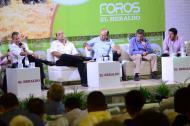 Panelistas durante el evento Debates Caribe Agro  que se realizó el año pasado en Valledupar.