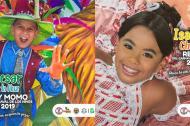 César Andrés De la Hoz Padilla  e Isabella Sofía Chacón Ruiz, reyes del Carnaval de los Niños 2019.