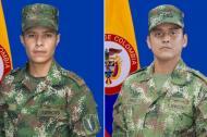 Los soldados muertos en combate.