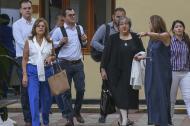 La directora de la SAE, María Virginia Torres, a su llegada a Triple A.