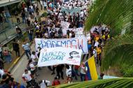 Marcha de estudiantes realizada en Barranquilla.
