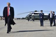 El presidente Donald Trump comenzó una gira por Montana, Arizona y Nevada con fines electorales.