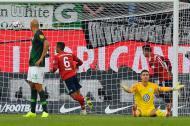 James Rodríguez celebra su gol.