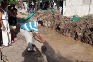 Sector del barrio barrio Juan José, donde ocurrió el accidente laboral.