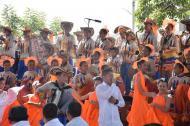 Miembros de la Banda de Baranoa durante la presentación en el taller Construyendo País.