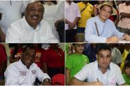 Los candidatos al primer cargo de Riohacha: Manuel Sierra Deluque, Miguel Ángel López, Iller Acosta y Juan Carlos Suaza.