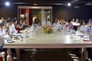 El presidente Iván Duque se reunió en la noche del viernes con su gabinete en el Parque Cultural del Caribe.