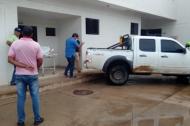 Hospital de Barrancas, adonde fue llevado el mototaxista.