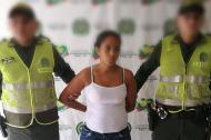 Angélica Polo Gutiérrez, capturada por violencia intrafamiliar.