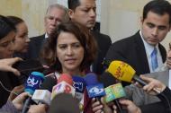 La ministra del Interior, Nancy Patricia Gutiérrez, negó que se esté incumpliendo con el trámite de la agenda anticorrupción.