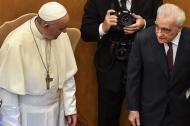 El papa Francisco junto a Martin Scorsese.