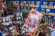 Boris Ríos, colecciona cómics y es uno de los distribuidores de estos cuadernillos en la ciudad.