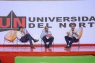 Juan Carlos Peña, Octavio Ibarra y Juan José Jaramillo en la Semana Global.