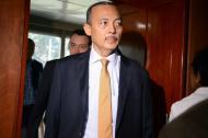 El gobernador de La Guajira Wilmer González Brito, luego de una audiencia.