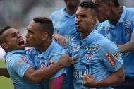 Los jugadores del Junior celebraron a rabiar en 2016 el paso a la final de la Liga, luego de dejar en el camino a Nacional.