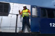 Nidia Bueno, la Samaria maquinista que movió el tren desde La Dorada hasta Santa Marta.